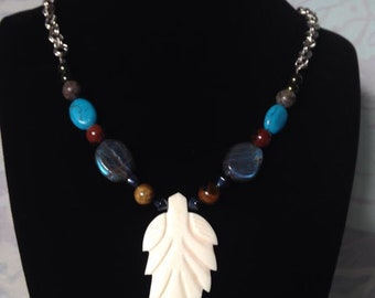 Bone Pendant Necklace for protection -Blessed with reiki prayer