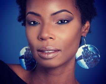 Women's Black Panther Earrings