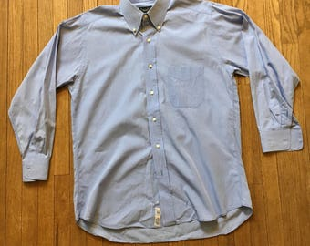 Gitman Brothers Mens Blue Buttondown