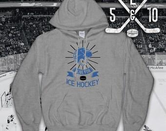 Hockey Hoodie, I Live For Ice Hockey, Ice Hockey, Hockey Hooded Top, Ice Hockey Hoodie, Hockey Sweatshirt, Hockey, Hockey Lifestyle
