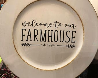 Farmhouse Charger Plate