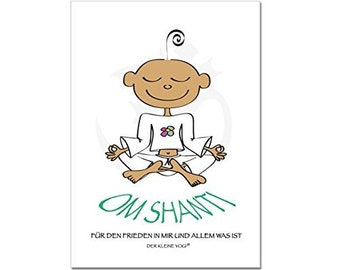 The Little yogi: postcard-Om Shanti