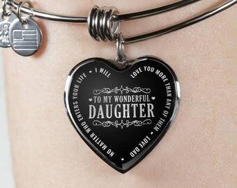 To My Wonderful Daughter Bangle Bracelet