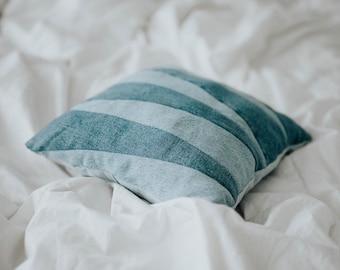 Denim wedge Throw Pillow
