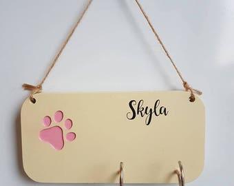 Personalised Dog Leash Holder
