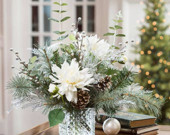 White Snowflake Arrangement