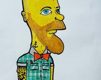 Hipster Bart Simpson print
