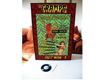 THE CRAMPS stay sick promotional poster,garage,goth,punk,psychedelic jungle,a date with elvis,smell of female,look mom,