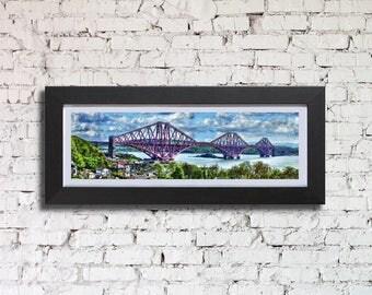 Forth Bridge Framed Print, by Stuart Readman