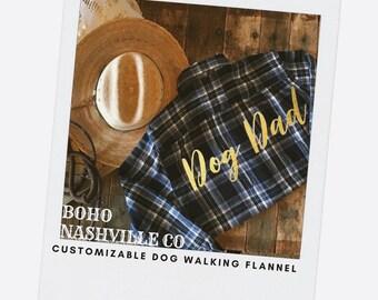 Flannel shirt, Dog Dad shirt, Gift for Him, Dog Lovers Shirt, Dog Lovers Gift, custom Flannel Shirt, gold foil, Gift, COTTON Shirt