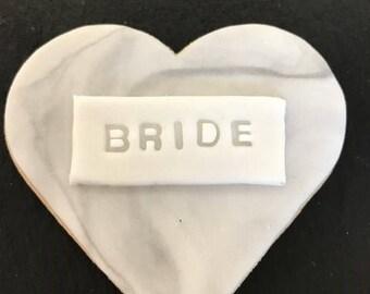 Wedding favour biscuit