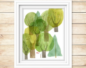 Sprawling Forest Giclee Print