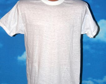 Fruit of the Loom Blank Soft Thin DEADSTOCK New White Tshirt Vintage 1950s - 1960s