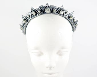 Illuminati Pirite Crystal Crown - Queen of the Ruins Series - by Loschy Designs