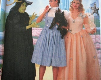 Simplicity 7808, Wizard Of Oz Costume Pattern, Misses Size Y, Sizes 18, 20, 22, Dorothy, Good Witch Glinda, Wicked Witch Of The West, Uncut