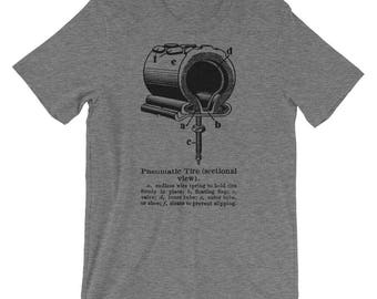 Bike Tees- Bike Tshirt- Bike Tube- Pneumatic Tire- Cool Bike Shirt- Cool Gift for Cyclist- Short-Sleeve Unisex T-Shirt