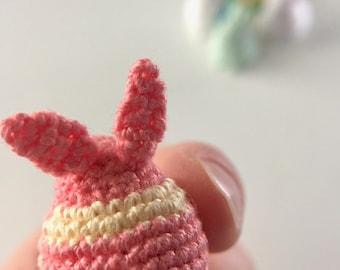 Crochet Mini Bunny Totem - Pink Lemonade
