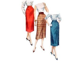 50s Pencil Skirt Pattern One Yard Skirt pattern Slim Skirt pattern vintage Waist 26 Simplicity 1345