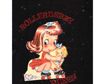 Rollerderby Queen {Original Collage}
