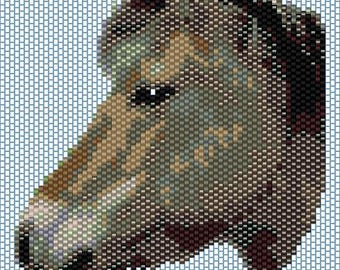 Horse Peyote stitch PATTERN