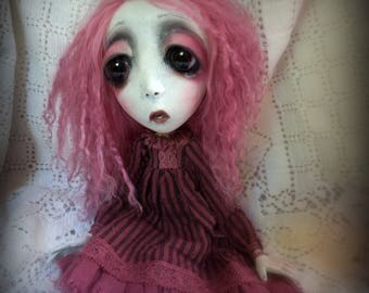 Loopy Southern Gothic Art Doll Victorian Dark Goth Ghostly Marie