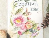 "2018 Watercolor Wall Calendar ""Consider Creation"" Scriptures and Nature"