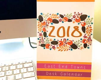 2018 Floral Standing Desktop Floral Calendar of East End Towns