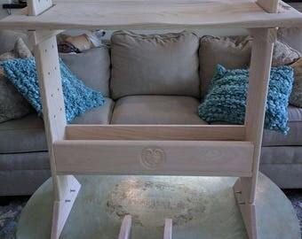 Adjustable Oak Weaving Bench Kit
