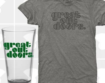 Great Outdoors Shirt & Pint Glass Set - Men