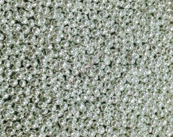 2mm Silver-Plated Round Beads (100)