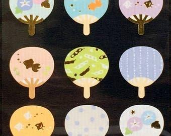 Fan Stickers - Summer Stickers - Japanese Stickers -   (S135)