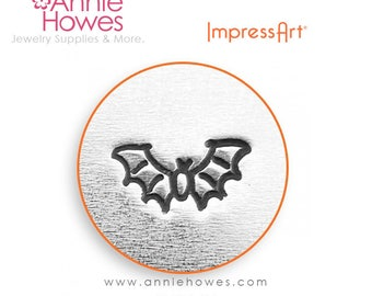 Impressart Metal Stamp for Jewelry Stamping - Flying Bat Wing Shape