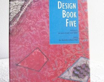 Vintage Art Book Fiberarts Design Book Five Arts & Crafts 1995