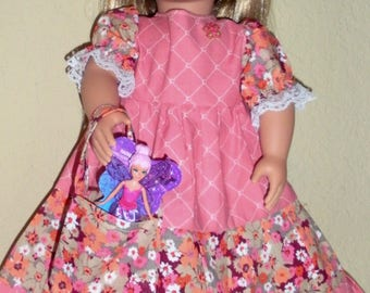 Salmon Pink Dress---doll dress---Girl doll dress