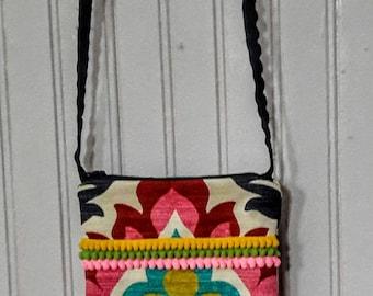 Pretty boho crossbody mini bag