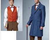 Sewing Pattern Butterick 6502 -Men's Fantastic Beasts and Where to Find Them Vest and Coat Size 46-52