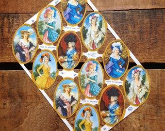 German Scraps - Victorian Women, Victorian Ladies - Die Cuts, Cut Outs, Reproduction, Vintage Style, Vintage Inspired, Paper Ephemera