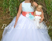 Aqua Flower Girl Dress wi...