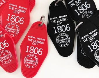 Athens, Georgia Red or Black Motel Keychain