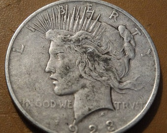 1923 Peace Silver Dollar Coin antique coins for Jewelry Jeweler Numismatic Coinage Retro Americana Coinage 1920's Lot #38