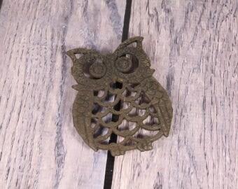 Little Owl - Trivet - Metal