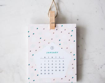 2018 Wall Calendar – 12 months of patterns – great for office, kids room & nursery