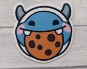 STICKER beetleNom Yeti Cookie Twitch Emote Vinyl Sticker