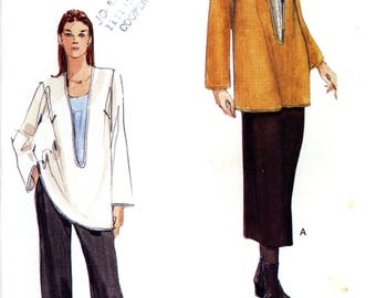 Vogue 7147 Easy Pullover Tunic Top Pants Skirt Size 18 20 22 Uncut Sewing Pattern 1999