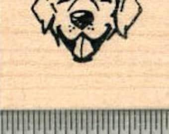 Tiny Dog Face Rubber Stamp, Labrador Retriever A32619 Wood Mounted