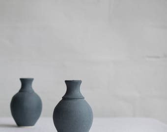 Bud Vase in Matte Blue