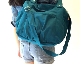 Anna in Teal Blue Messenger bag/diaper bag/School bag/cross body / Purse / tote bag/women / Back to school - Sale Sale Sale 30%