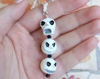 Jack Skellington Heads Necklace