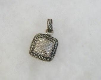 Dainty Judith Jack Sterling Silver 925 & Marcasite Pendant