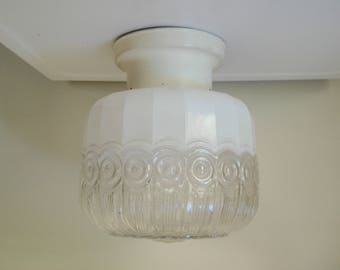 Gorgeous ceiling light fixture - shade with mount and hanging hardware